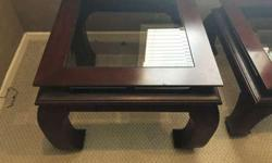 A solid coffee table and side table for sale