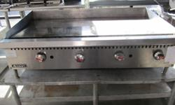 adcraft 4ft counter top gas flat grill