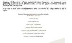 Administrative and Accounting Services