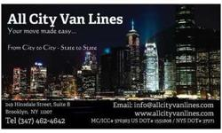 All City Van Lines Inc. Special Rates to All States