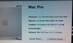 Apple ULTIMATE! Mac Pro Dual Core 2x Xeon 2.66GHz 14GB 1TB