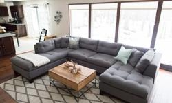 Arhaus Garner Sectional Grey - Practically New