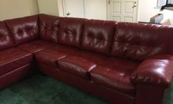 Ashley Durabelend Leather Sofa and Chaise