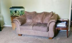 Ashley mocha microfiber sofa and loveseat