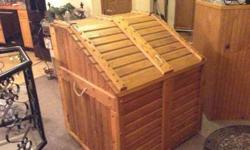 Awesome CUSTOM indoor wood box or storage box-BEAUTIFUL