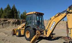 Backhoe, DEERE 310SG, With 3 Buckets, Will take serious
