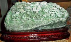 Beautiful and Exceptional Large Jadeite DuShan Jade