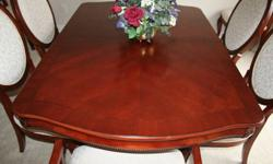 Beautiful Dining Room Set, 8 chairs with 2 piece Hutch for