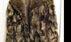 Beautiful Raccoon Coat, small to medium size. $140.00