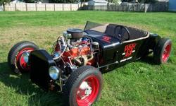 Black Edition -1924 Ford Model T Rat Rod -255 Chevy