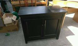 Black entryway cabinet, sofa table or TV stand