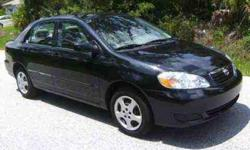 Black Toyota Corolla 2005 with 78,540 miles