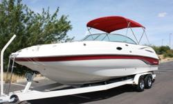 Chaparral Sunesta 263 Open Bow Deck Boat Clean
