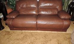 Chateau D'ax Milk Chocolate Leather Dual Electric Reclining