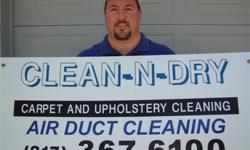Clean-n-Dry Services...Carpet, Upholstery and Air Duct