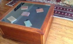 Coffee / map table for storing collectibles