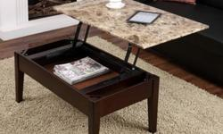 Coffee Table - Dorel Living Faux Marble Lift Top