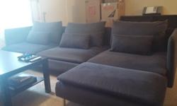 Dark Grey Sectional - Excellent Condition