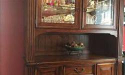 Dining Room China Cabinet with Glass Hutch