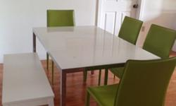 Dining Table -- Tempered Glass Top