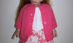 Doll Sweater, Hat, Blouse & Skirt for 18 inch doll