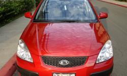 Excellent condition Red 2009 Kia Rio LX 52k mi
