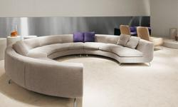 FOR SALE - Minotti DeBuffet Cream Leather Sectional Sofa