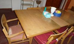 Free Dining Room Table and Chairs...Chairs Need Padding
