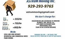 Full moving service -- Last minute move -- Low rates