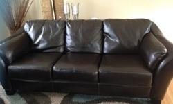 Great condition bonded leather sofa & chair $500 OBO price