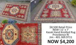 Hand-knotted Kazak Rug for SALE