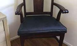 Hand Carved Possibly English 19th Century Chairs