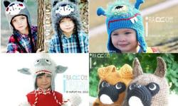 Handmade Crochet Animal Hats for all ages and Crochet
