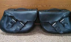 Harley Davidson Top Grain Leather Saddle Bags