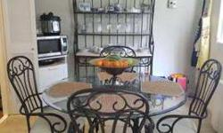 Havertys kitchen set - table, chairs, bread rack
