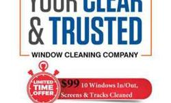 Huge savings! 10 Windows In & Out Professional Cleaning-