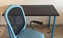 IKEA office chair and table -