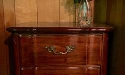 King Headboard & Nightstands, Beautiful Cherry Wood