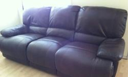 Leather Double Fully Reclining Sofa