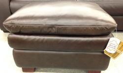 Leather Ottoman -pillowtop NEW