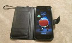 Lg Metro Pcs Smart Phone With Flip Cover Wallet Case