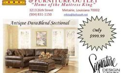 LIVE LIKE A KING!!! $999.99 Leather Sectional (3213 26th