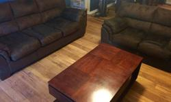 Living room set for sale-couch, love seat, coffee table, end