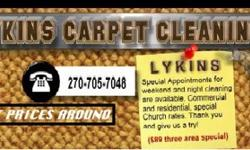 Lykins carpet cleaning- 3 room special