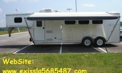 m^uUYy 2003 Exiss Sport Horse Trailer 3 Horse