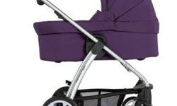 Mamas and Papas Sola Stroller, Bassinet, Car seat, base and