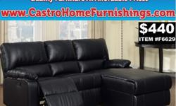 Mansfield Black Leather Loveseat Recliner Sectional