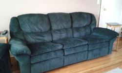 Matching reclining couch & chairs