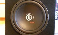 Memphis Audio 12' Subwoofer, Box, and Memphis Amp