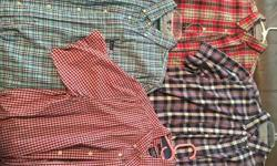 Men's Large Chaps Shirts, Short Sleeve